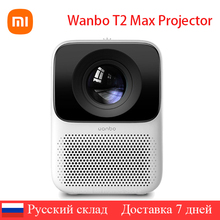 Global Versie Wanbo T2 Max Lcd Projector Led Ondersteuning Verticale Keystone Correctie Draagbare Mini Home Theater Xiomi Projector
