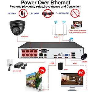Image 5 - Plug and play POE NVR 8CH Xmeye CCTV פנים לזהות מערכת 5MP ב/חיצוני POE IP מצלמה IR יום /לילה אבטחת מעקב ערכות