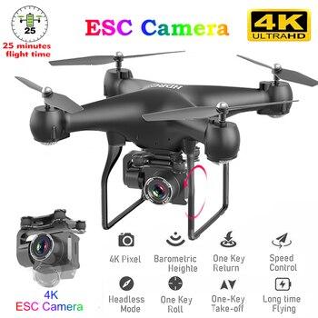 RC zangão fpv quadcopter uav com ESC câmera 4k profissional grande-angular fotografia aérea longa vida controle remoto voar máquina brinquedos 1