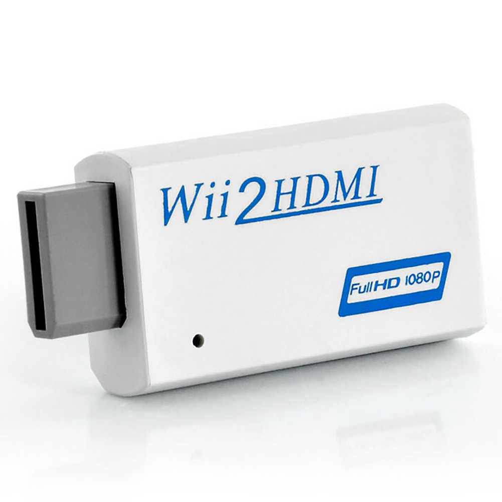 Untuk Wii untuk HDMI 1080P Upscaling Converter Wii2HDMI Adaptor Converter Full HD Output Peningkatan 3.5 Mm Audio Output Video