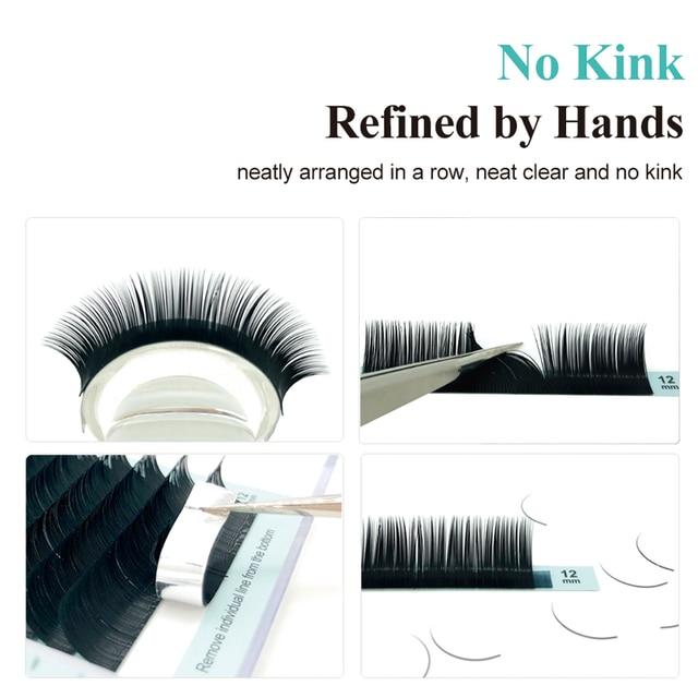 NATUHANA Korea PBT 16Rows B C D Curl Eyelash Extension False Individual Lashes Hand Made Faux Mink Eyelashes for Extensions 2
