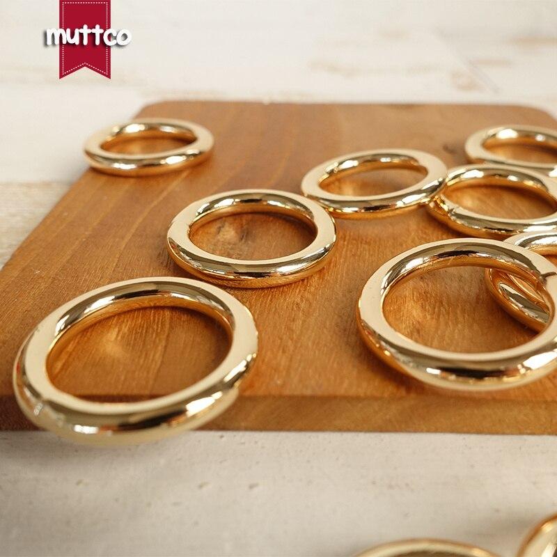 100 pcs/lot bricolage pour collier de chien 20mm couture bagages à la main boutons manuels or O anneau boucle accessoires