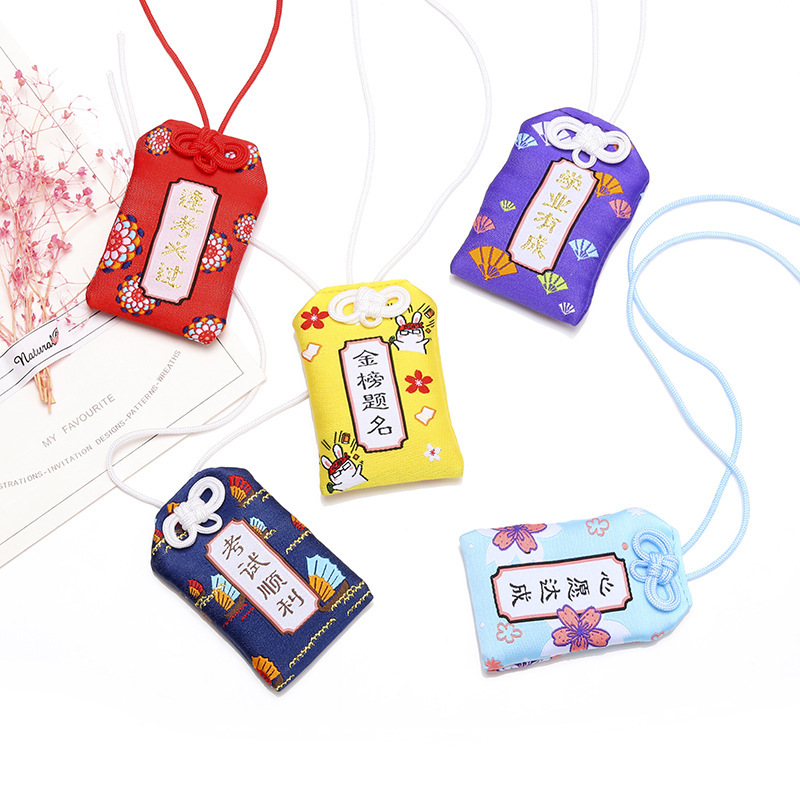 Cartoon Omamori Lucky Bag Acrylic Key Chain Cute Pendant Key Ring Woman Kids Personality Keyring Girls Llavero Brelok Keychain
