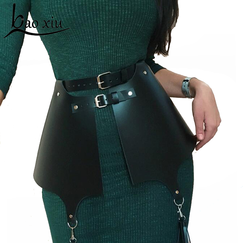 New Vintage Handmade Punk Gothic Tassel Leather Garter Belt Waist Straps Thigh High Dress Harness Corset Belt Accessory