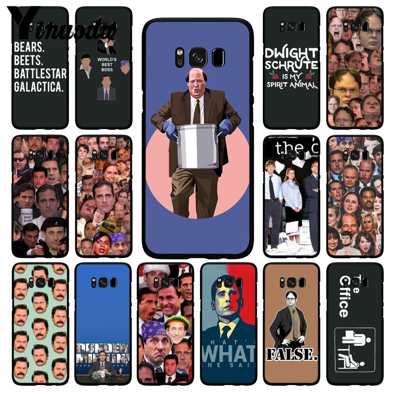 Yinuoda The office tv show What She Said Phone Case for Samsung Galaxy S10 Plus S10E S6 S7 S8 S9 S9Plus S10lite S5 M10 image