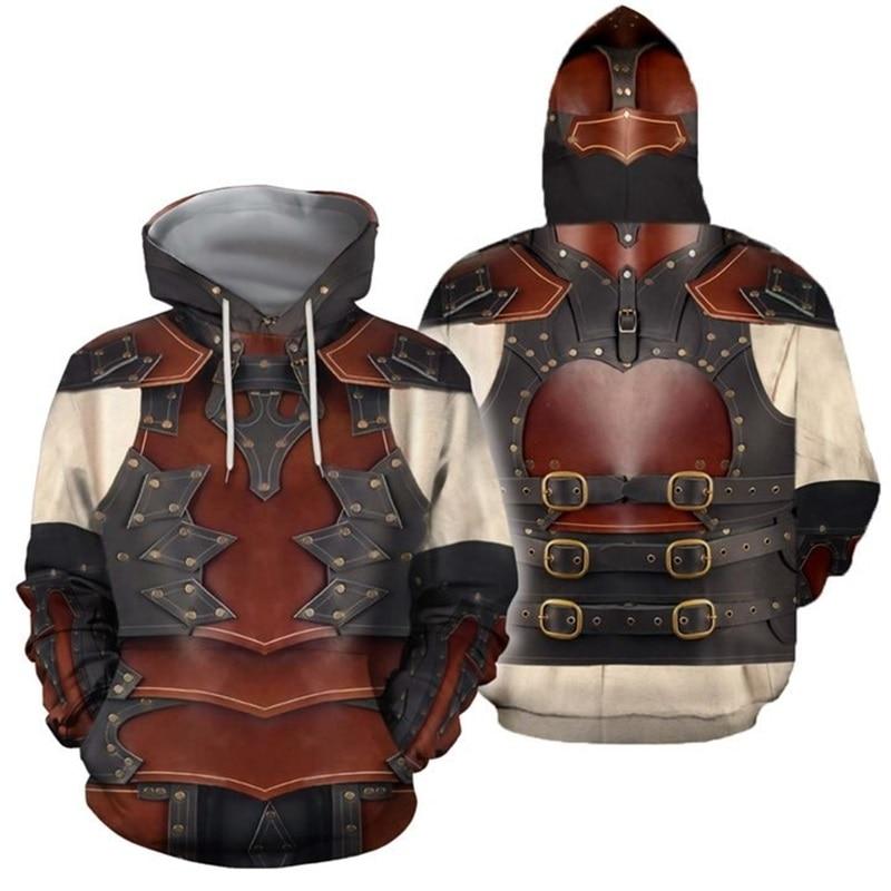 Viking Tattoo Armor 3D Printed Men Hoodies Harajuku Fashion Hooded Sweatshirt Cosplay Costume Unisex Hoodie Sudadera Hombre