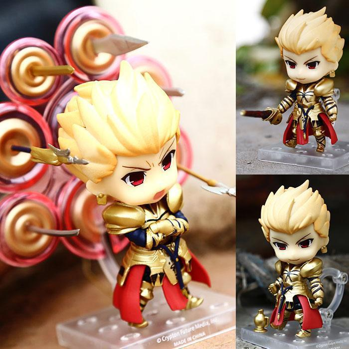 Hot Sale 10cm Q Version Fate Stay Night Gilgamesh Mobile Action Figure Toys Collection Christmas Toy Doll Model Birthday Gift