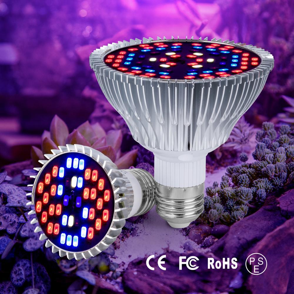 E27 LED Grow Lamp Fitolamp E14 LED Light For Plants Full Spectrum Phyto-Lamp AC85-265V For Plants Flowers Seedling Cultivation