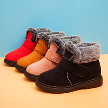 Buy Thick Warm Kids Snow Boots  Winter Shoes for Girls Round Toe Plush Non-slip Flat  Baby Toddler Shoes Ski Boys Girls Boots directly from merchant!