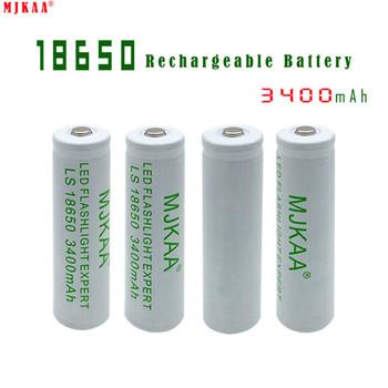 10 sztuk 100 nowy oryginalny MJKAA biały 3 7 v 3400 mah 18650 akumulator litowy do baterii latarki tanie i dobre opinie Li-ion 3001-3500 mAh Tylko baterie Pakiet 1 4 35V 2 75V Latest batch