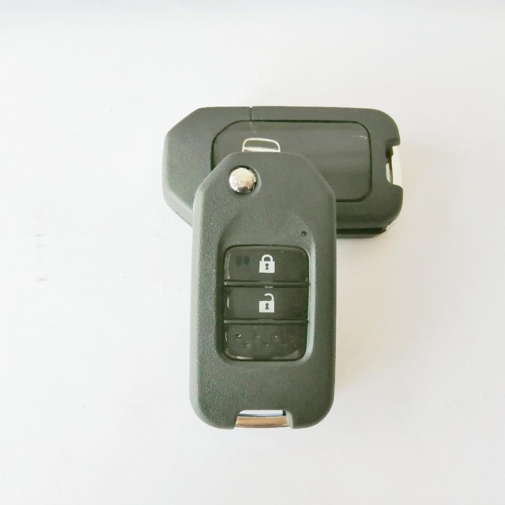 Folding Car Key Flip Key Shell Stying Cover Case 2 3 Button Remote Key Cover Smart Key Case For Honda CRV New Accord With Logo-3
