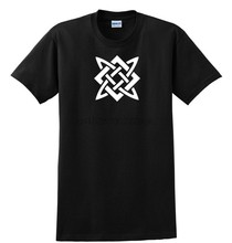 Svarog Slavic God of Fire Symbol Shirt Father Creator Black White Cotton S-5XL(China)
