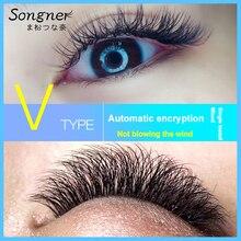 False Eyelashes V-Type Soft Mix Does Not Loosen The Double-Tip Flat Hair V-Shaped Graft Open