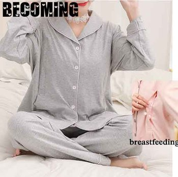 Big Size Maternity Clothes Pregnant Women Sleepwear Pregnancy Fashion Pregnent Pajamas Plus