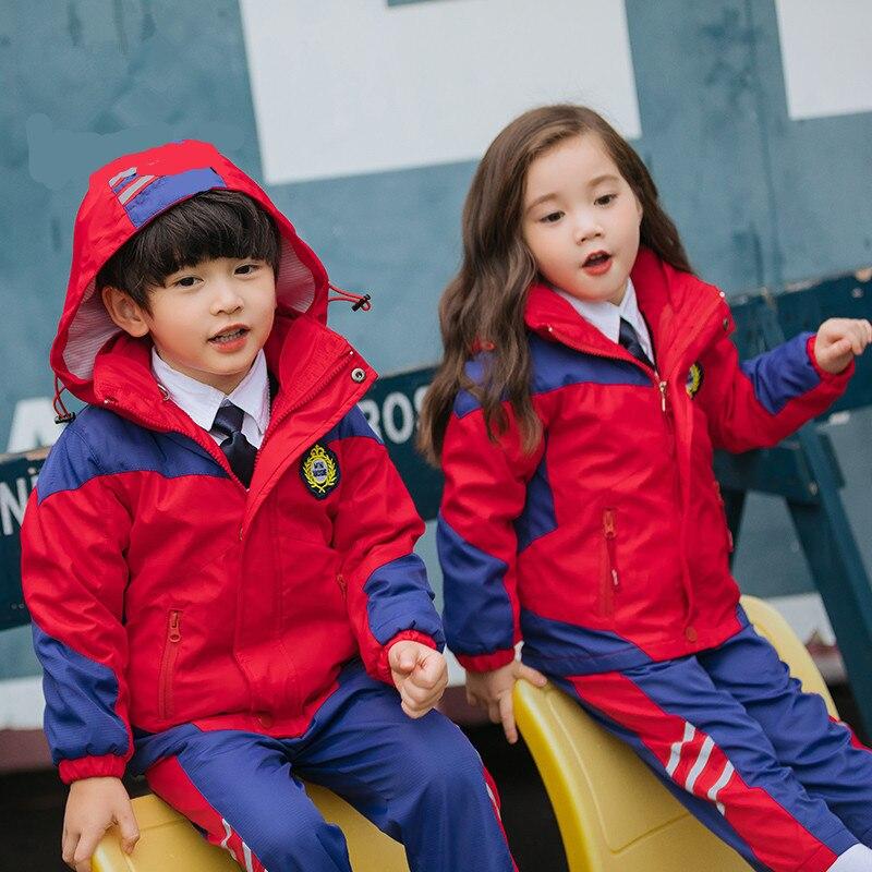 2019 New Style Autumn And Winter New Style Children Korean-style Raincoat Jacket Clothes Kindergarten Primary School STUDENT'S S
