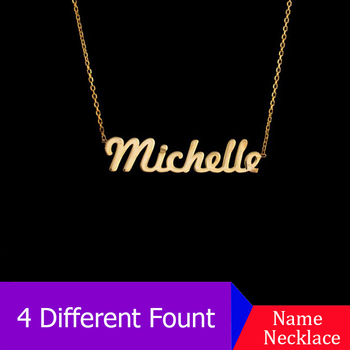 Any Personalized Name Necklace Women Men Stainless Steel Collares Mujer Bijoux Fascinating Custom Name Choker Necklaces Pendants 1954 north dakota sioux jersey 14 all stitched custom any name and any number men s throwback hockey jersey free shipping