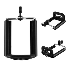 Adjustable ABS Clip Double Spring Black Phone Holder Stands Clamp Clip Stand For Iphone For Android Mobile Phone Accessories