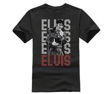 купить HOT deals 2019 Hot Sale Fashion Elvis Presley King of Rock and Roll Music T Shirt Mens Fashion Novelty Short Sleeve Tee Tops дешево