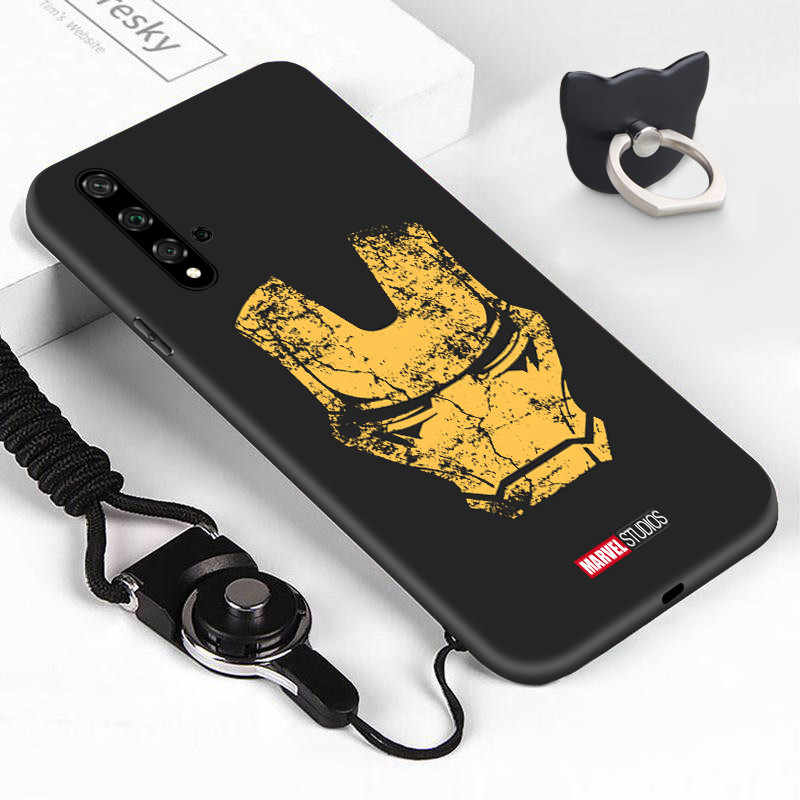 Untuk Huawei Nova 5 5i 5T Shockproof Retro Marvel Case Ironman Kapten Amerika Spiderman Casing TPU Silikon Telepon cover