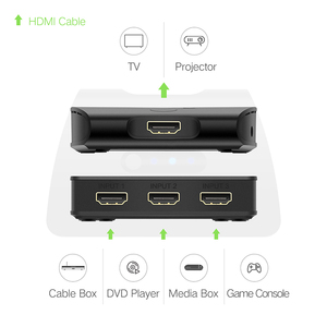 Image 2 - Ugreen 3 ميناء HDMI التبديل 1080P الجلاد مقسم الوصلات البينية متعددة الوسائط وعالية الوضوح (HDMI) منفذ HDMI ل XBOX 360 PS3 PS4 أندرويد HUB 3 المدخلات إلى 1 خارج محول HDMI