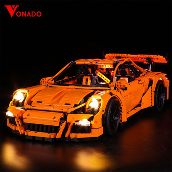 Led Light Set Compatible For lego 42056 Porsche technic race Car 20001 3368 Building Blocks Bricks Toys (only light+Battery box) image