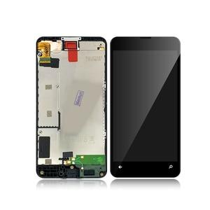 """Image 2 - Nokia Lumia 630 635 için RM 977 RM 978 4.5 """"LCD ekran dokunmatik ekran Digitizer meclisi ile çerçeve Microsoft 630 için lcd + hediye"""