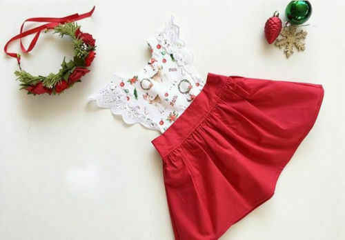 Bożonarodzeniowe ubranka dla niemowląt nowonarodzone dzieci dziewczyny siostra pasujące małe/duże siostry Romper Dress stroje Casual odzież