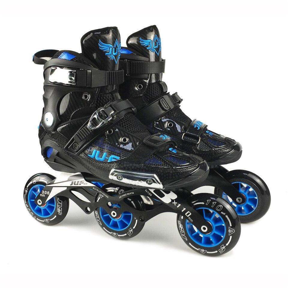 War Wolf patins de vitesse Semi-solft haute cheville rouleau chaussure en ligne Patines 3*110/4x100mm châssis pour la course de rue patinage gratuit F072