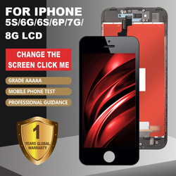 Grade AAA + + + untuk iPhone 6S 7 8 LCD dengan 3D Kekuatan Rakitan Digitizer Layar Sentuh untuk iPhone 5S 6 6Plus Tampilan Tidak Mati Pixel