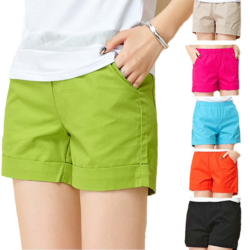 YAYEYOU Women's Shorts Summer 2019 Ladies Casual Loose Solid Cotton Shorts 5 Colors 4XL Plus Size Fashion Trunk Feminino