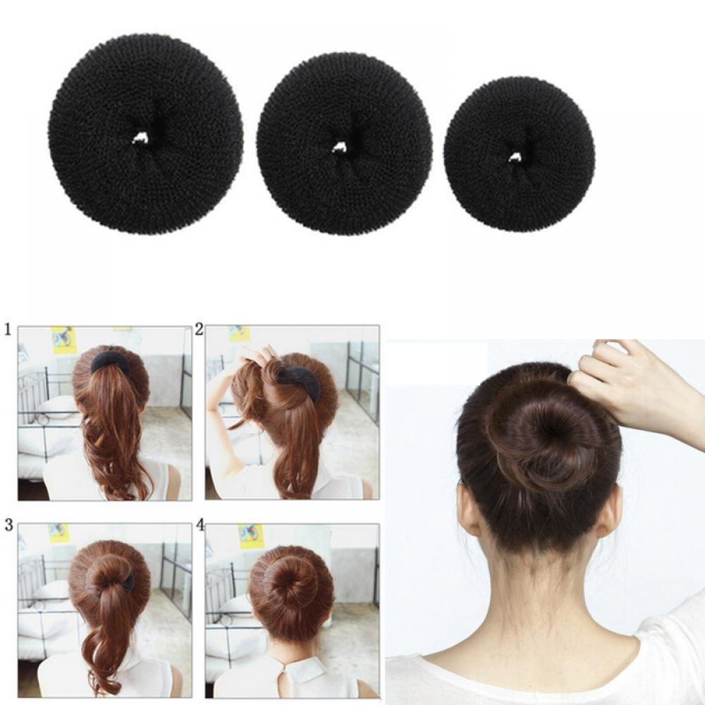 1pcs New Fashion Donut Hair Ring Elegant Women Girls Magic Shaper Donut Hair Ring Bun Fashion Hair Styling Tool Accessorion