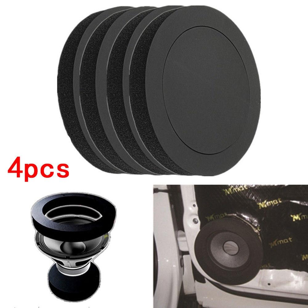4PCS Car Door Speaker Bass Ring Foam Woofer Pad Noise Sound Wave Sealed car Audio Speaker Soundproof Cotton