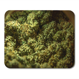 Mouse Pads Mouse Pads Green Weed Cannabis Marijuana Sativa Heads Medical Bud License Farm Mouse pad for Notebooks