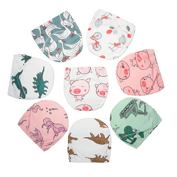 цена на 3 Diaper+3insert Baby Cotton Training Pants Baby Diapers Reusable Cloth Diaper Nappies Washable Infants Underwear Nappy Changing