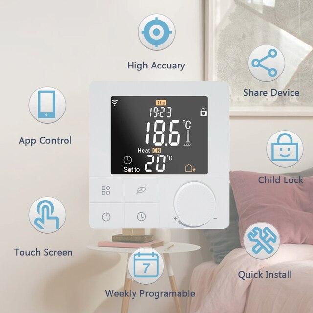 Termostato inteligente Wifi Beok 3