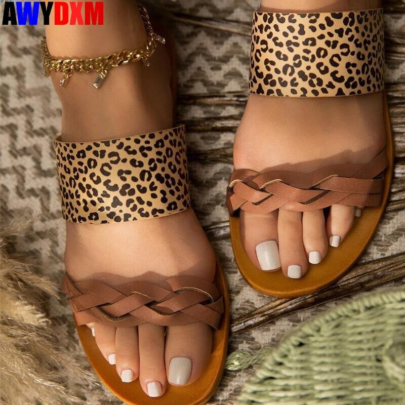 2020 Summer Women's Slippers Open Toe Shoes Woman Beach Slides Ladies Outdoor Comfort Slip-on Flat Slipper Female Plus Size