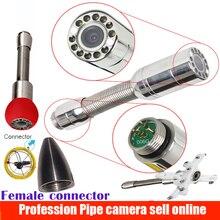 23 мм канализация сливная труба Инспекционная камера Замена головки с 12 шт. светодиодный фонарь для камеры bestwill