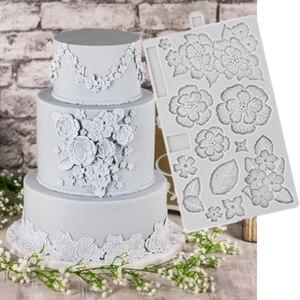 Инструменты для украшения тортов из мастики силиконовые формы для вышивания и приготовления сахарной ваты, формы для шоколада и выпечки то...