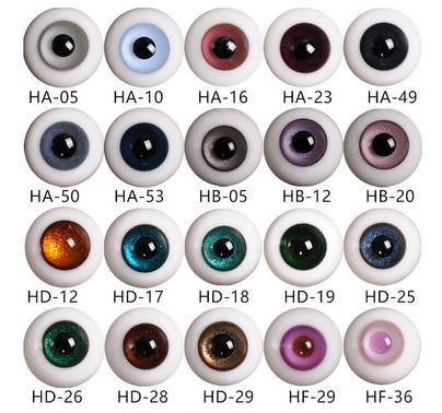 Parabox Baby Head BJD Eyeball Accessories Clay Man SD Baby Ob24 Ob11 Eyeball 12mm Glass With Handle Eyes