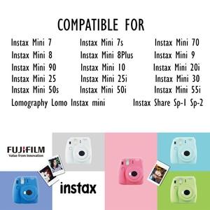 Image 5 - 10 200 arkuszy Fuji Fujifilm instax mini 11 9 8 filmów biała krawędź 3 Cal film dla aparat natychmiastowy mini 8 9 7s 25 50s 90 papier fotograficzny