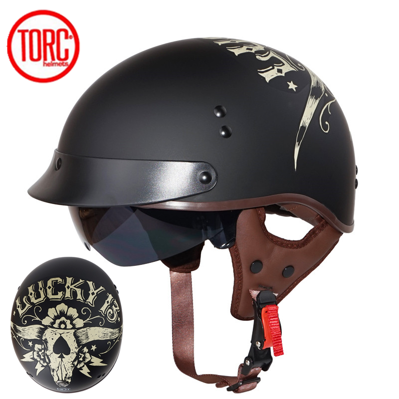 Hot Sale Torc T55 Vintage Half Face Motorcycle Helmet Vespa Retro Open Face Bicycle Helmets Dot Capacete Casco Casque Moto Casque Moto Helmet Vespamotorcycle Helmet Aliexpress