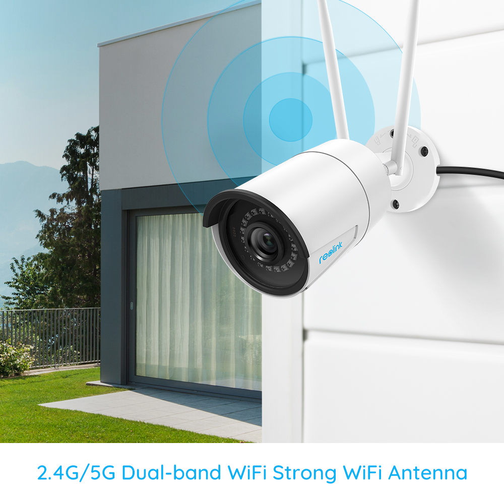 Reolink Camera WiFi 2.4G/5G 4MP RLC-410W Onvif infrared night vision Audio IP66 waterproof outdoor indoor surveillance RLC-410W