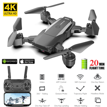 Mini Drone 4K With Camera HD Helicopter 20 Mins Flight Time Dual Camera Selfie Drone FPV WiFi Foldable RC Quadcopter Toy For Kid
