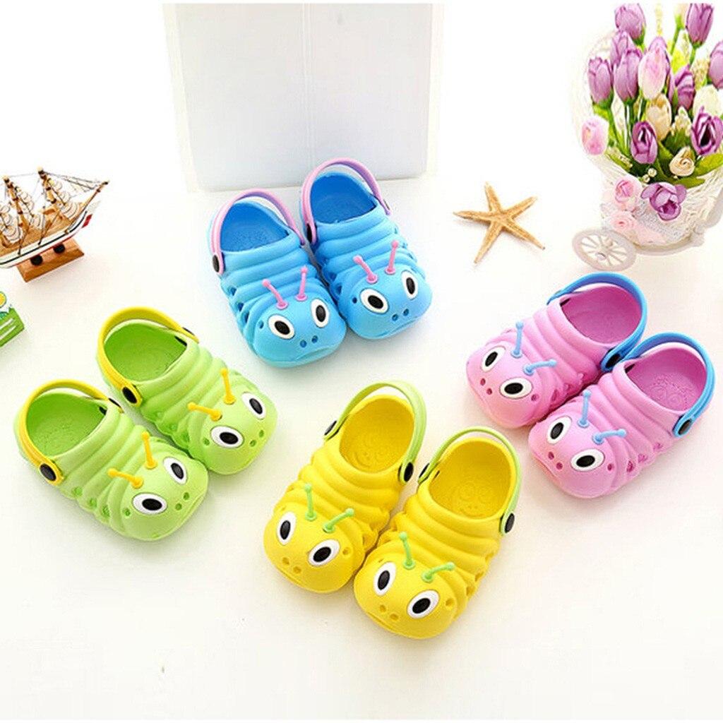 Toddler Summer Cartoon Slippers Cute Caterpillar Baby Boys Girls Anti-slip Beach Sandals Slipper Flip Kids Shoes 0-5 Years A20