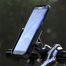 Bicycle Phone Holder CNC Motorcycle Handlebar Mobilephone Support Aluminum Alloy 360 Rotation MTB Road Bike Mount Accessories