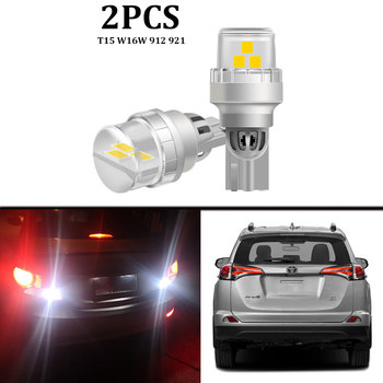 2PCS White Canbus 100% Error Free 912 W16W T15 Car LED Bulbs For Toyota RAV4 RAV 4 LED Backup Reverse Light 2006-2016 2017 2018 image