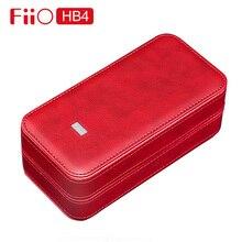 Fiio HB4 収納プレーヤーヘッドホン皮質カスタムボックスミニポータブル防水保護ケースのためのFA1 FH7 M5 M9 M11 Q5 x5iii K3
