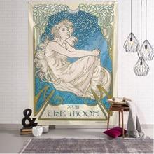 Manta de Tarot con estampado de Mandala, tapices para colgar en la pared, colcha de dormitorio, cubierta de astrología, decoración de pared