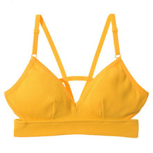 Sexy Beautiful Back Bra, Ring-free, Thin and Small Underwear Bra Removable Pad
