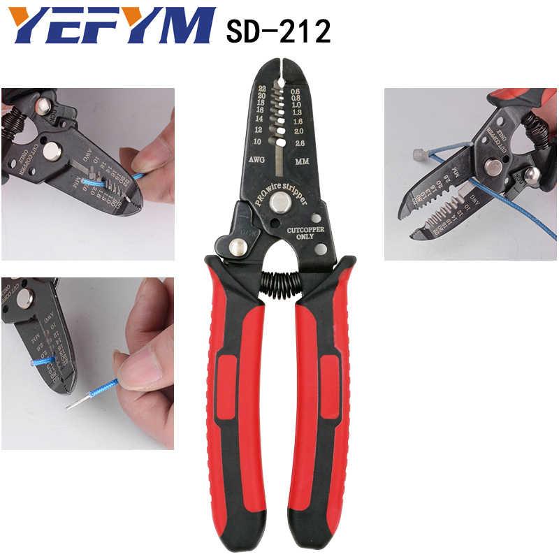 LY-2546B alicates de prensado pv line capacity 2,5/4/6mm2 14-10AWG solar traje conector Y1 herramientas de corte de pelado de cables